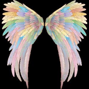 Wunderschöne pastellfarbene Engelsflügel