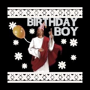 Birthday Boy Ugly Sweater Jesus für Weihnachten