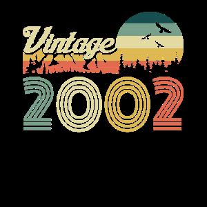 Vintage 2002 Geburtstag Retro Jahrgang Geschenk
