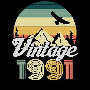 Vintage 1991 Geburtstag Retro Jahrgang Geschenk