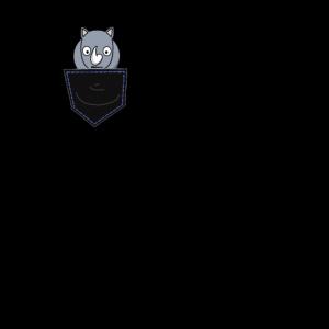 Nashorn rhino Hemd Tasche lustiges tierdesign