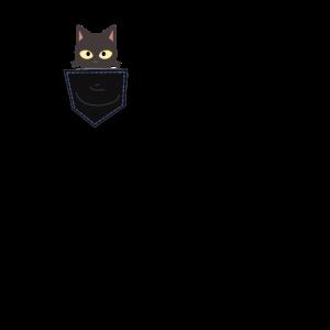 Katze Kater in der Hemd Tasche lustiges tierdesign