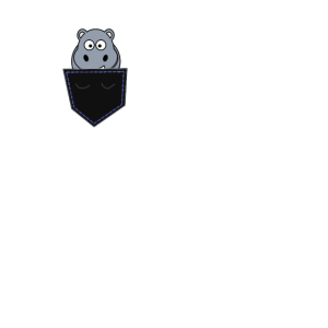 Hippo Nilpferd in Hemd Tasche lustiges tierdesign