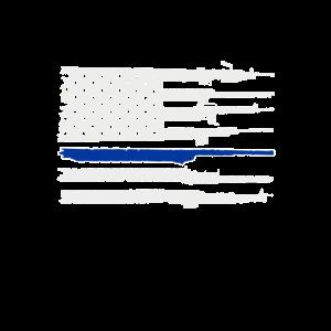 Blue Lives Matter Thin Blue Line Gun American USA