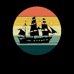 Vintage Segelschiff Segeln Geschenk