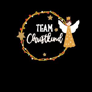 Team Christkind Motiv für Familien Weihnachten