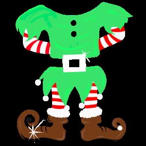 Weihnachtself Kostüm Elf - Wichtel Anzug