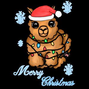 Alpaka-Frohe Weihnachten
