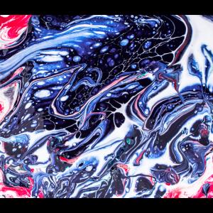 Abstrakte Tuschemalerei