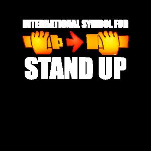 International Symbol to Stand Up