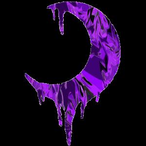 Mond tropfend lila