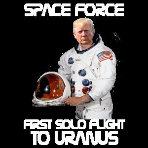 Space Force Erster Alleinflug nach Uranos Trump Sarc