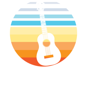 Retro Vintage Ukulele Sunset Hawaiian Player Music