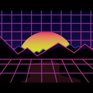 Aesthetic Synthwave Retrowave Sonne Nacht