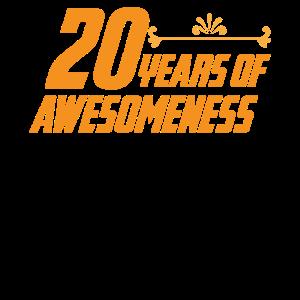 20.Jahre Großartig Geburtstaggeschnek