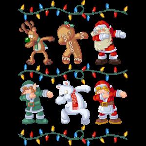 Dabbing Santa Reindeer Elf Bear Gingerbread Gifts