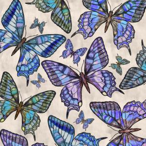 Aquarell Schmetterlinge - sanfte Pastellfarben