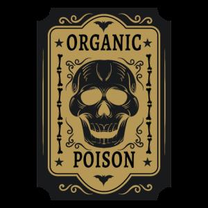 Organic Poison Schädel Karte