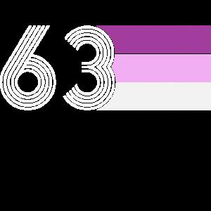 Vintage 1963 Geburtstag 57 Jahre RETRO purple pink