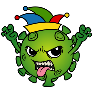 Fasching Karneval Corona Virus Abstand Narrenkappe