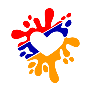 Armenien Paintball Fahne Fleck Farben Geschenk