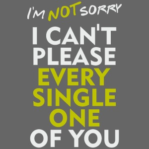 sorry, no regrets