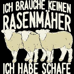 Schaf Ich brauche keinen Rasenmäher Schafe