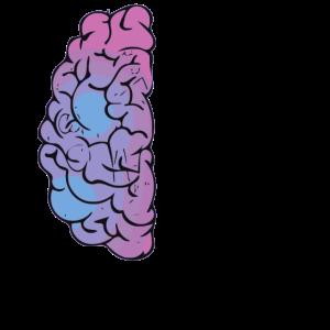 Gehirn / halb / Brain / bunt / Trend / Sprüche