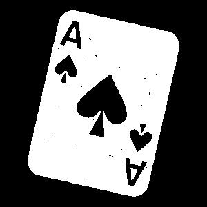 Pik Ass Spielkarte