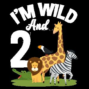 2. Geburtstag Geburtstagsshirt Dschungel Zwei