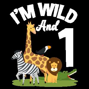 1. Geburtstag Geburtstagsshirt Dschungel Eins