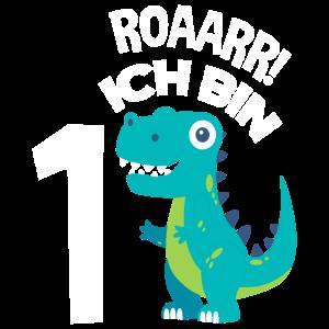 1. Geburtstag Geburtstagsshirt Dinosaurier Eins
