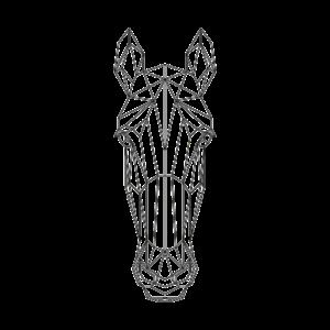 Geometrische Illustration des Pferdes