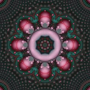 rosa grünes Punkte Fraktal