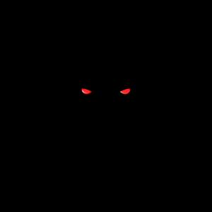 Gorilla rote Augen