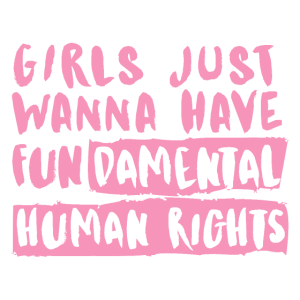 Feminismus Gleichheit rosa Mädchen wollen einfach nur Spaß haben