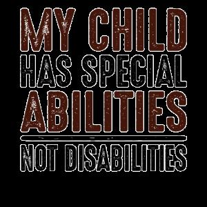 Besondere Bedürfnisse Elterngeschenk Mein Kind hat besondere