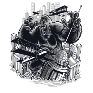 Gorilla City, Film Affe greift Stadt an, Kino FUN