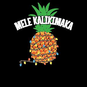 Mele Kalikimaka Pineapple Christmas Chain Lights