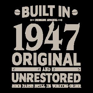 BUILT IN 1947 LUSTIGES 73. GEBURTSTAG GESCHENK