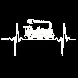 Dampflok Herzschlag Eisenbahn Puls EKG