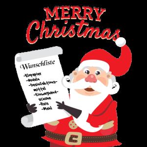 Weihnachten 2020 Wunschliste Weihnachtsmann lustig