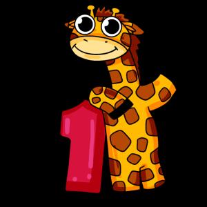 1. Geburtstag Giraffe 1.Klasse Geschenk