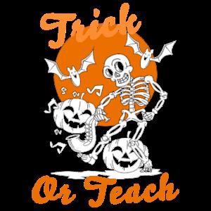 Teacher Halloween Costume Funny Trick Or Teach