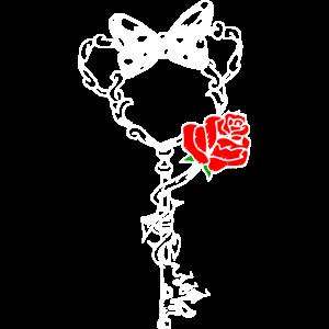 Maus Motiv mit roter Rose