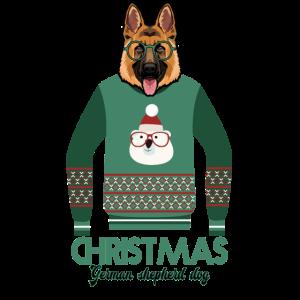 Deutscher Schäferhund Weihnachten