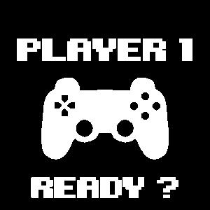 Spieler 1 Geek Gamer Videospiel