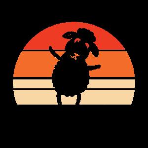 retro sheep sun