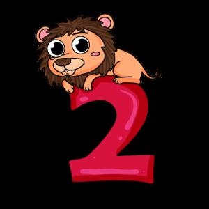 2 Geburtstag Löwe - 2 Jahre alt Geschenk