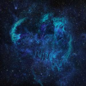 Weltraum Weltall Galaxie blau